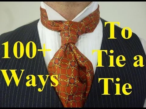 How to tie an Ascot or Cravat into a Ruche Knot aka Scrunchie Knot