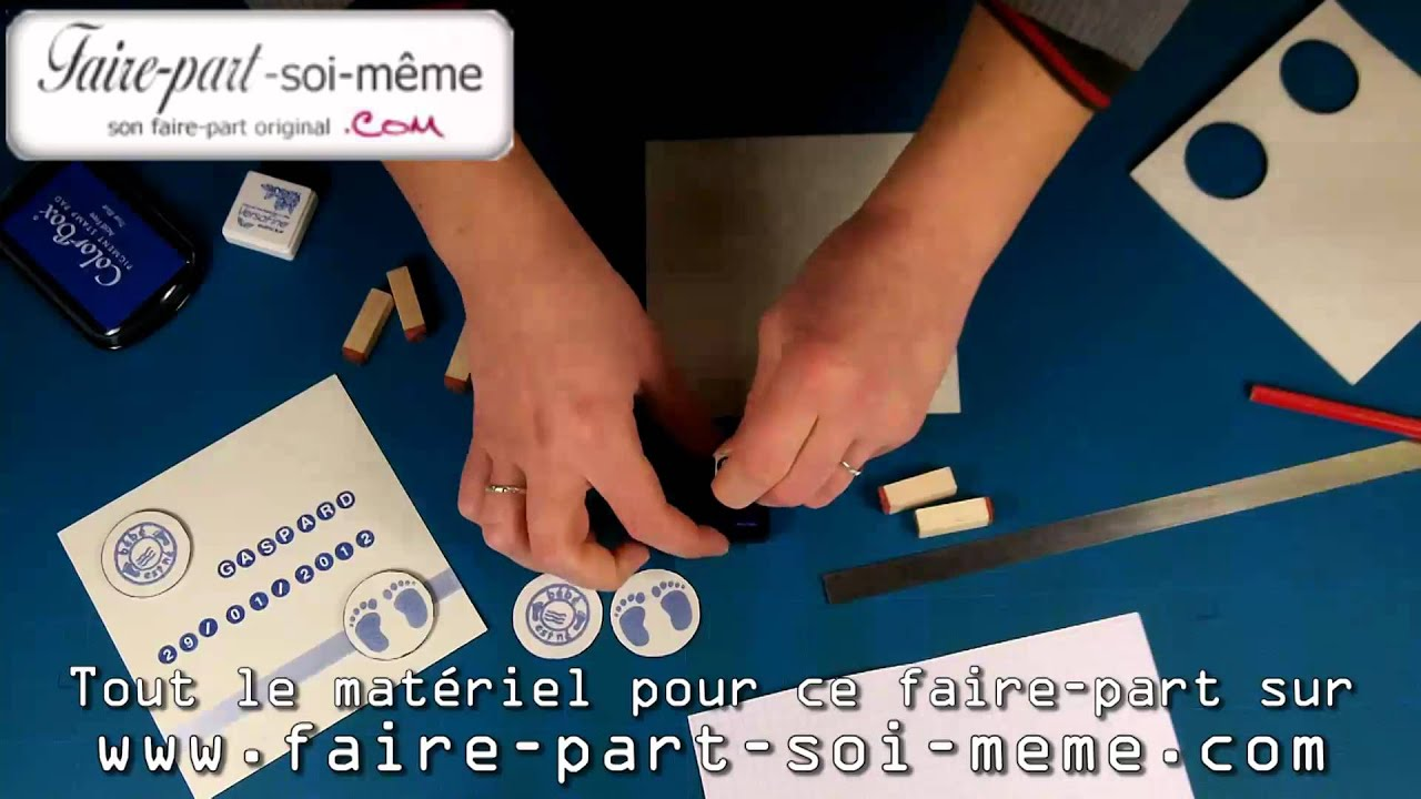 Faire part de naissance faire soi m me gaspard youtube - Dressing a faire soi meme ...