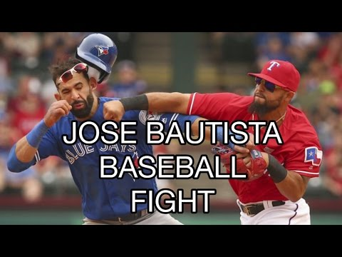 Baseball Fights 2016 Jose Bautista Punched by Rougned Odor of Texas Rangers, SUSPENDED