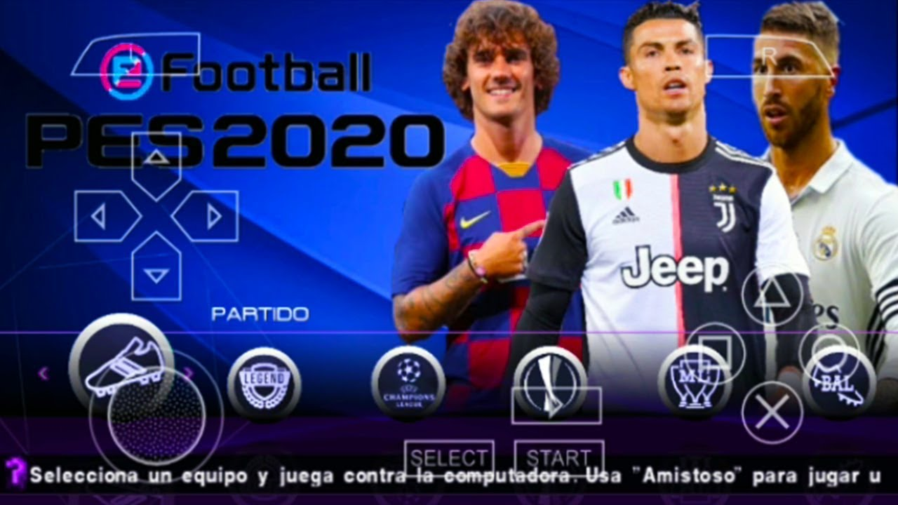 PES 2020 PPSSPP Android Lite 300 MB Offline Game Update Real Faces & Kits  Best Graphics