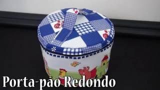 PORTA-PÃO REDONDO – PASSO A PASSO
