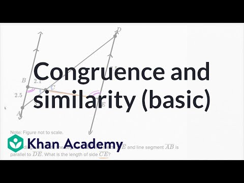 Congruence And Similarity — Basic Example | Math | New SAT | Khan Academy
