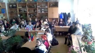 Урок английского языка в Тарумовском школе