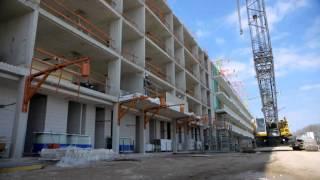 Achteraf montage met Schöck IDock®: IDock® verwijderen en prefab balkon plaatsen (fase 3)