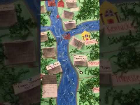 Sample Huckleberry Finn Final Map Project - YouTube