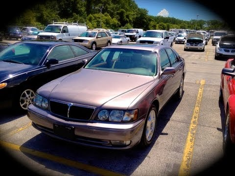 2000 Infiniti Q45 Anniversary Edition Start Up, Quick Tour, & Rev With Exhaust View - 123K
