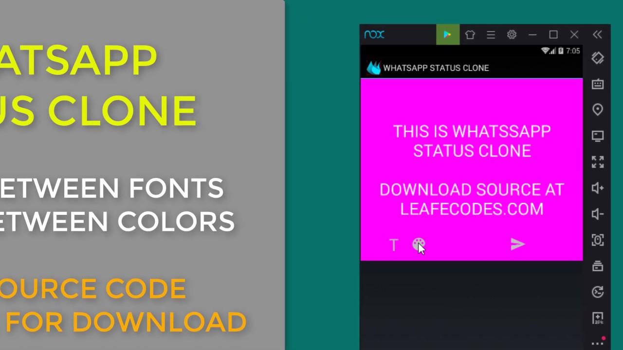 B4a Tutorials Whatsapp Status Clone Demo Source Code