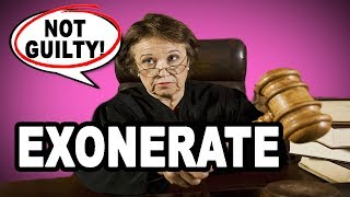🔓 Learn English Words: EXONERATE - Meaning, Vocabulary with Pictures and Examples
