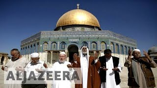 Palestinians celebrate removal of Israeli security at al-Aqsa