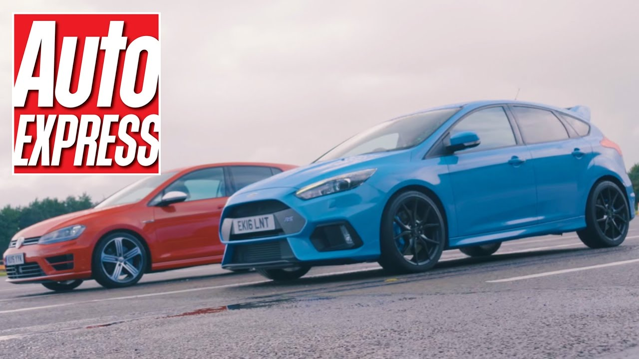 Ford Focus Rs Vs Vw Golf R 4wd Hot Hatch Drag Race Youtube