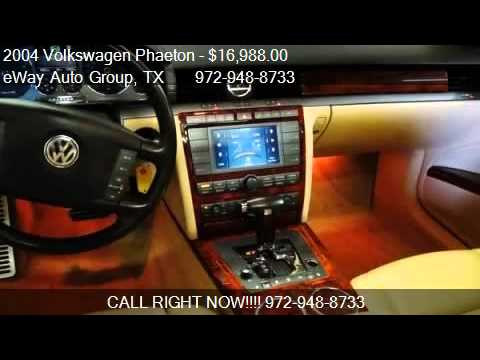 2004 Volkswagen Phaeton W12  for sale in Carrollton TX 750  YouTube