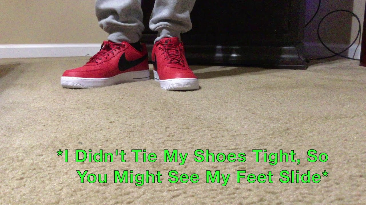 size 40 fe81f 0798d Air Force 1( AF1 NBA) ON FEET - University Red And Black - YouTube