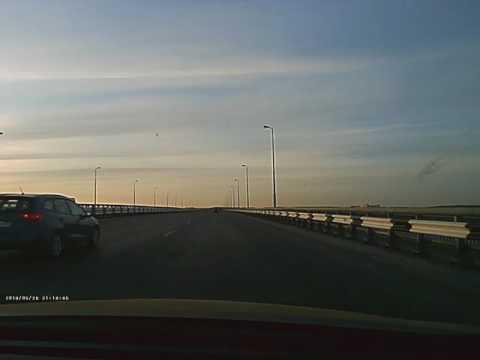 Пассажир упал с моста в ДТП на Красавинском мосту Перми 28.05.2016