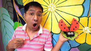 Hướng Dẫn Bé Làm Con Bọ Cánh Cam Bằng Giấy – Tự Làm Đồ Chơi | DIY Ladybug Paper Crafts