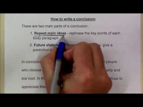 How To Write A Conclusion