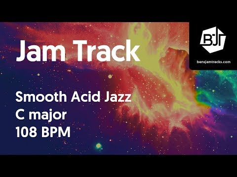 Smooth Acid Jazz Jam Track in C major 108 BPM