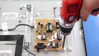 Samsung TV Power Supply & Main Board Replacement Tutorial - UN32EH4003FXZAFXZA