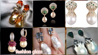 most beautiful and unique pearls earrings styles and ideas