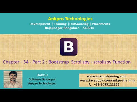 Bootstrap Chapter 34 - Bootstrap Scrollspy - scrollspy function part 2