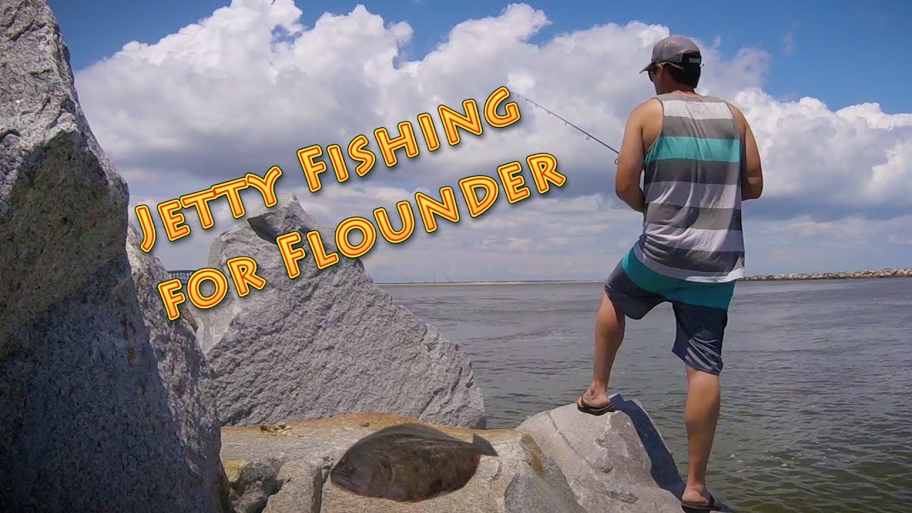 Jetty fishing for flounder at the oregon inlet youtube for Jetty fishing oregon