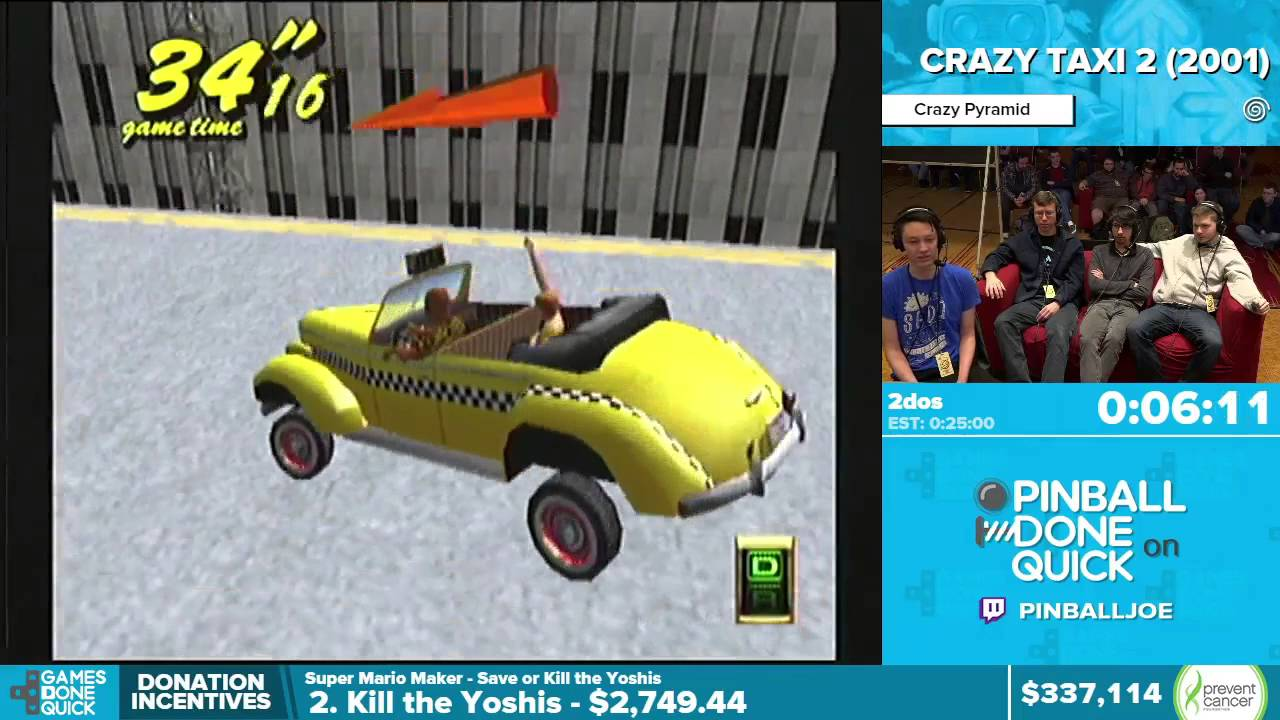 Crazy Taxi 2 by 2dos in 21:01 - Awesome Games Done Quick 2016 - Part 67