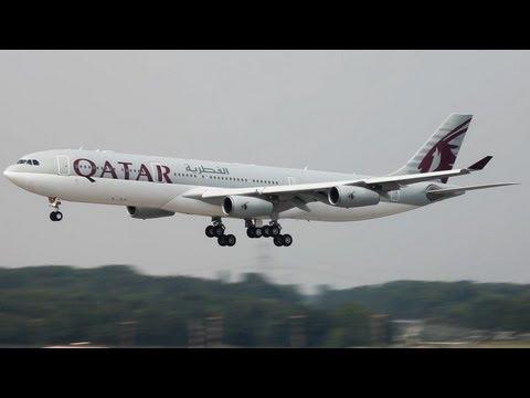 QATAR AMIRI VIP FLIGHT AIRBUS A340-300 ARRIVING AT DÜSSELDORF