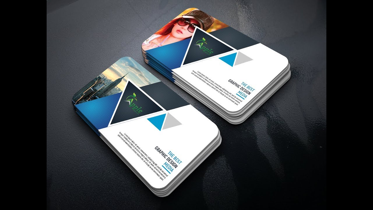 Corporate Business Card Design Tutorial in Photoshop - YouTube