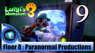 Luigi's Mansion 3 – Floor 8: Paranormal Productions - Find Polterkitty Cat - Full Walkthrough Part 9