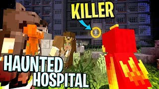 SPENDING A NIGHT IN A HAUNTED HOSPITAL AND WE GOT CHASED OUT !! : Minecraft Soul Snatchers