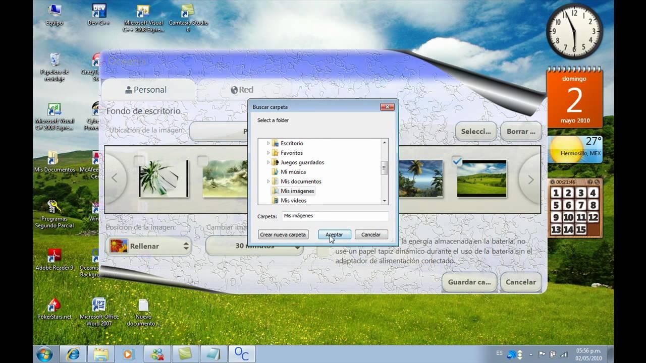 Como cambiar el fondo de pantalla en windows 7 starter youtube - Como cambiar fondo de escritorio windows 7 starter ...