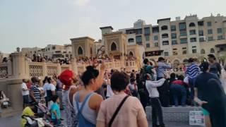 Very busy at Arabic Music Dubai Fountain show 7.00 p.m. 27.07.2016
