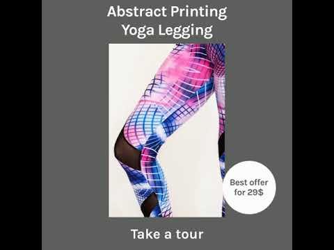 Abstract Printing Yoga Legging