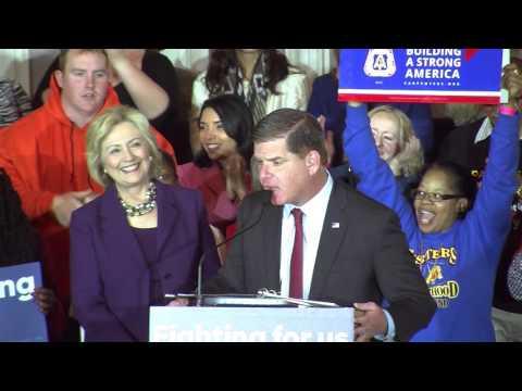 Boston Mayor Marty Walsh Endorses Hillary Clinton