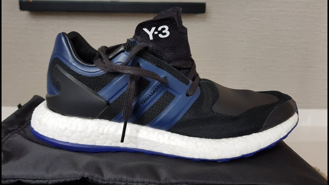 dc2e31626aa12 Y3 Pure Boost 2017 Black Blue - Atomic Purple Review in 4k! by FB TV
