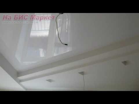 Белые глянцевые натяжные потолки (белый глянец): цены, фото, Кривой Рог