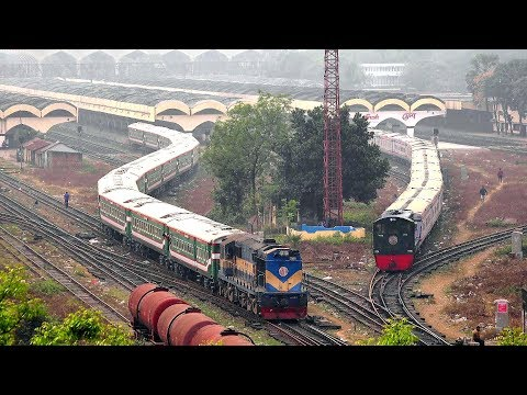 Ekota Express: Luxurious Train of Bangladesh Railway Leaving Dhaka Railway station
