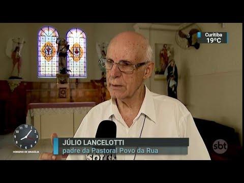Padre paulista que defende moradores de rua sofre ameaças de morte   SBT Brasil (22/03/18)