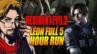 MAX FULLTHRU: Resident Evil 2 - Full Drunk Run - Leon B (HD Texture Mod)