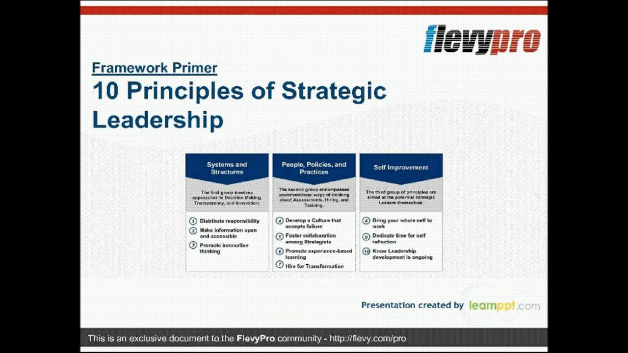 10 Principles Of Strategic Leadership Youtube