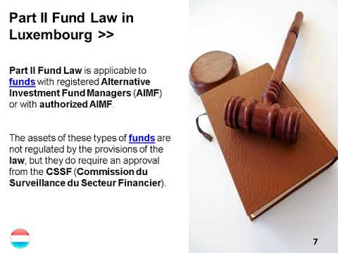 Law Regulating Investment Funds in Luxembourg