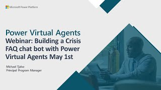 Building a Crisis FAQ bot using Power Virtual Agents