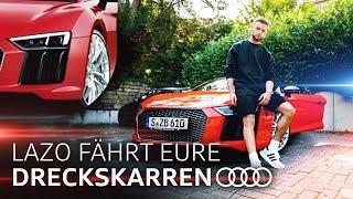 Der Audi R8 | Lazo fährt eure Dreckskarren (SPECIAL mit Shpendi 2.0) | Youtuner