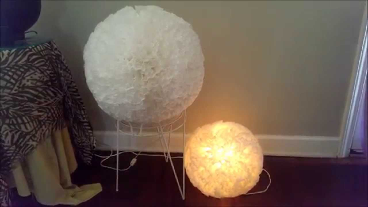 Diy paper lantern flower coffee filter youtube arubaitofo Gallery