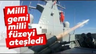 Milli Füze ATMACA TCG Kınalıada Gemisinden Başarıyla Fırlatıldı