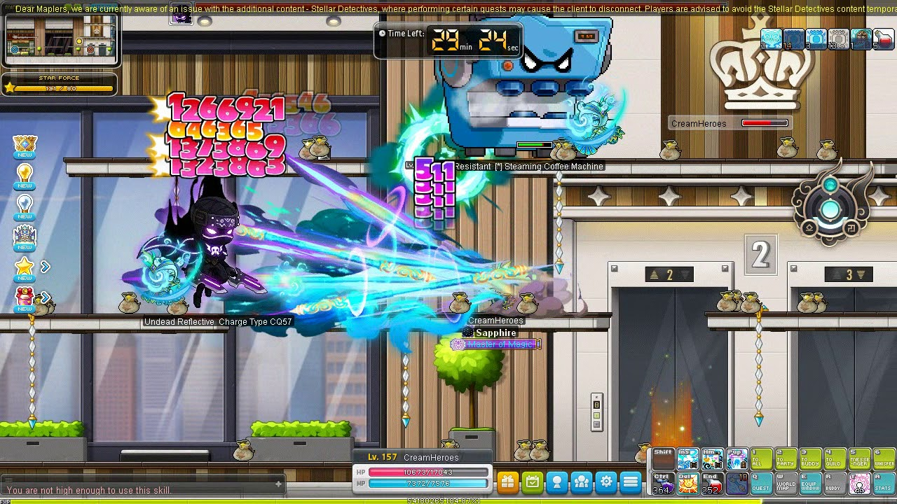MapleSEA Ho Young  Training at Kerning Tower