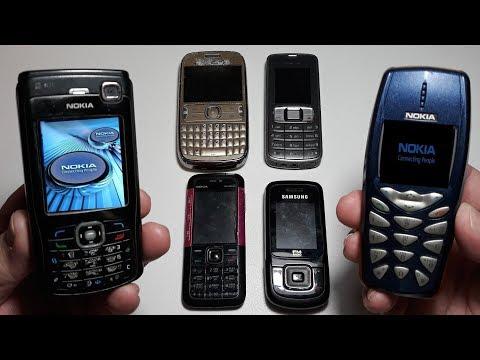 Шесть крутых Nokia ретро телефоны легенды из Германии, Nokia N70, Nokia 3510i, Nokia 3109c, 302