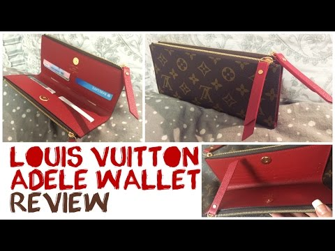 b45c8a49855 REVIEW | The Louis Vuitton ADELE WALLET - YouTube