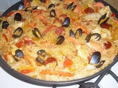 La pa lla facile au poulet chorizo moule crevette - Cuisine choumicha youtube ...
