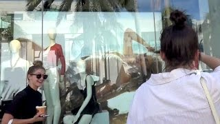 Kendall Jenner Goes Nuts Over Gigi Hadid's Sexy Window Displays