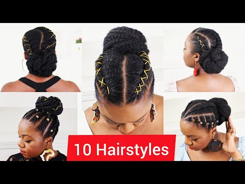 protective-hairstyles-for-natural-hair-|-awkward-length,-medium-to-long-hair|-compilation-|-cornrows